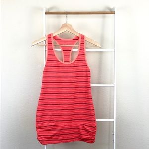 Zella Striped Workout Yoga Ruched Tank Top